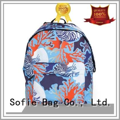 Sofie pink students backpack customized for kids