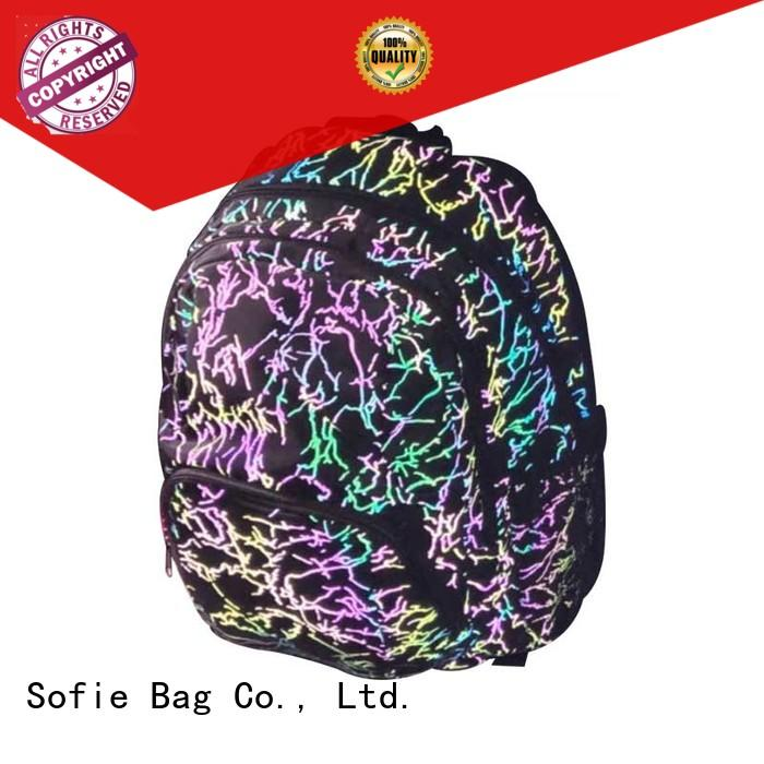 Sofie students backpack customized for packaging
