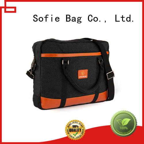 thick pipped handle shoulder laptop bag wholesale for office