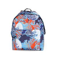 Full pattern girls students school backpack with reflective hat 201901002