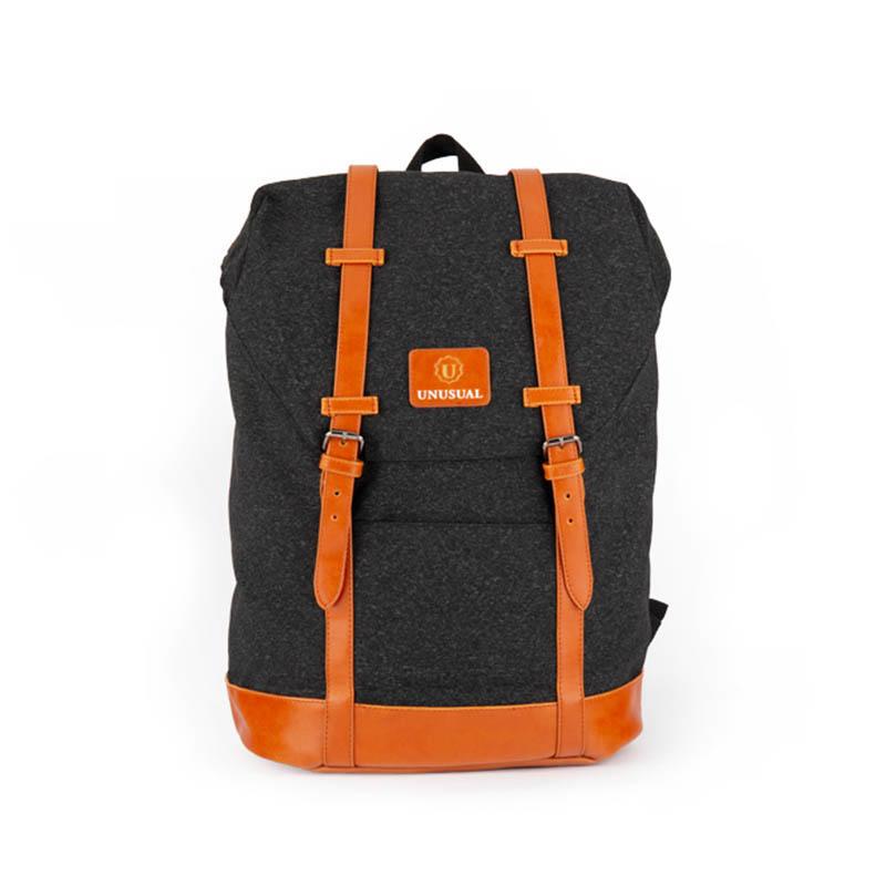 Stylish light melange casual backpack  20181007