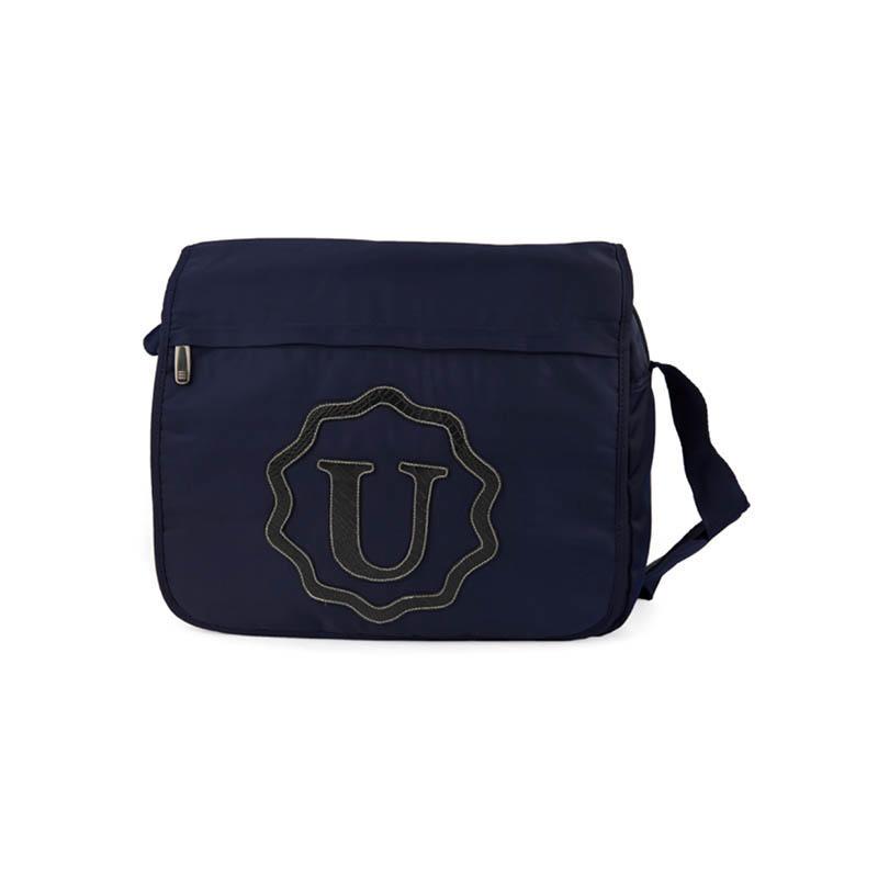 Light blue twill nylon messenger bag S18023