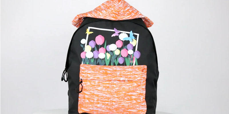 Girls reflective school backpack  201901001 reflective display video