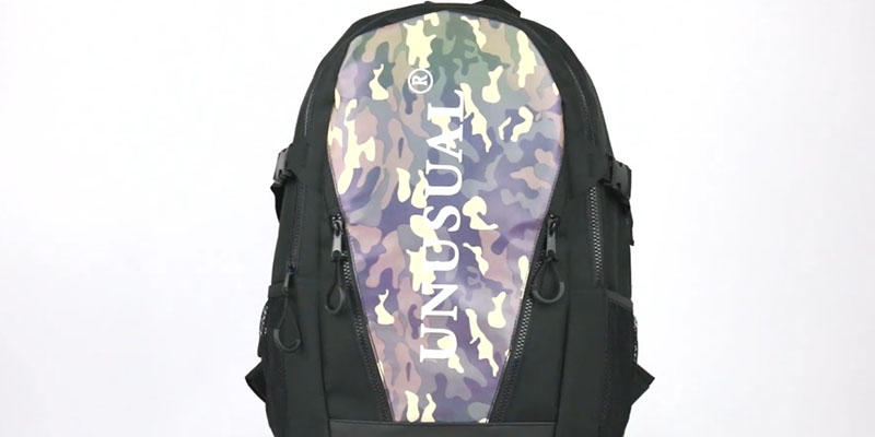 Outdoor sport reflective backpack 201901004 reflective display video