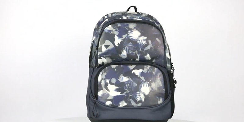 Reflective boy school backpack with cooler bag 201901006B reflective display video