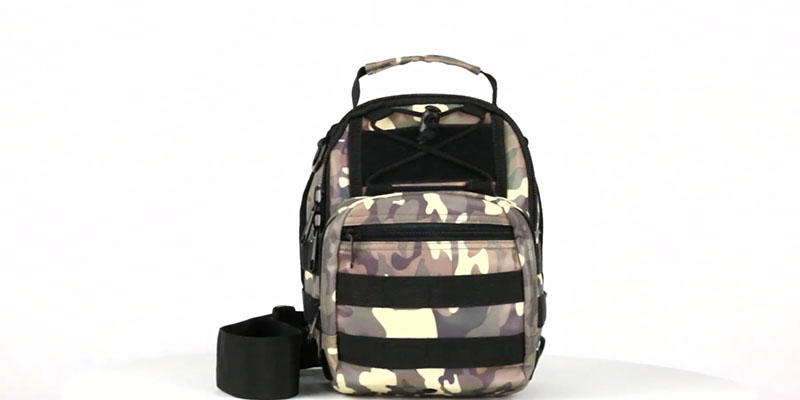 Reflective camouflage chest bag 201901019 reflective display video