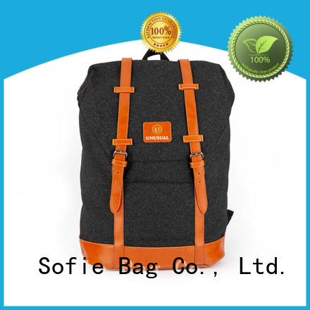 Sofie high quality canvas backpack wholesale for school