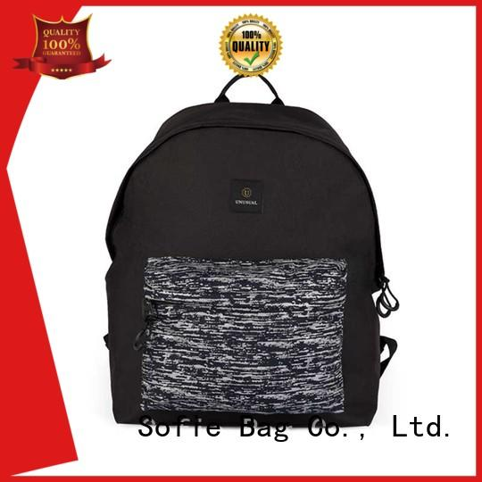 PU leather handle cool backpacks supplier for school