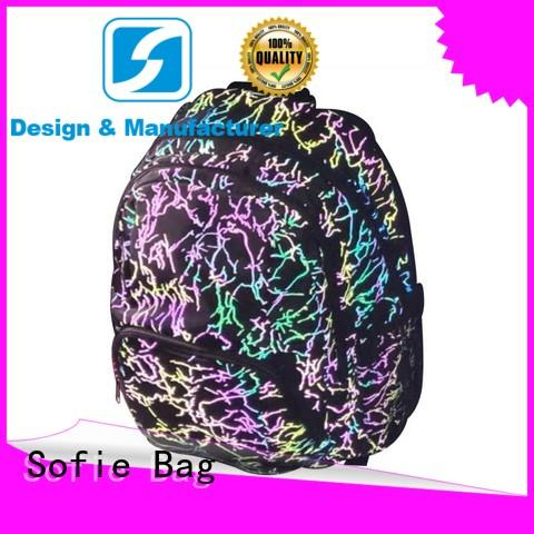 Fashion full colorful reflective student fashion backpack 201901018