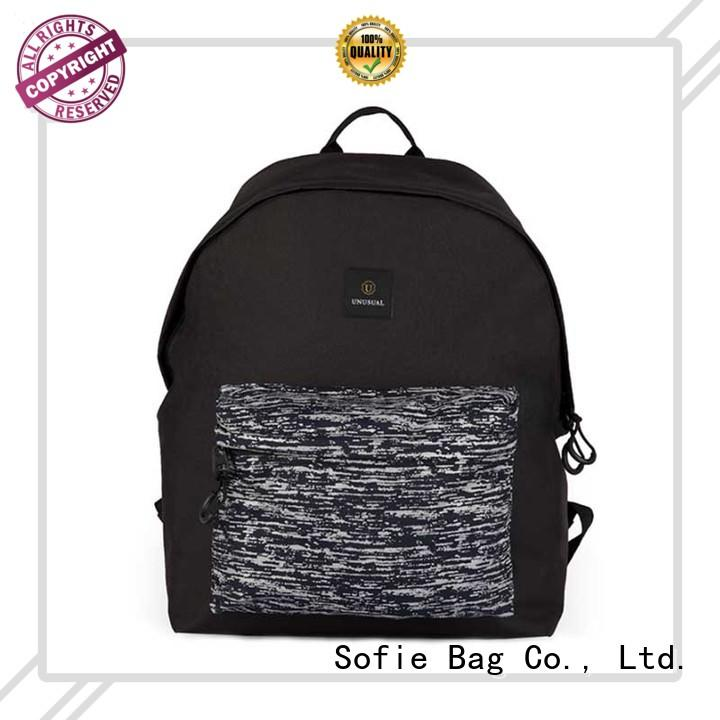 Sofie creative black backpack for business