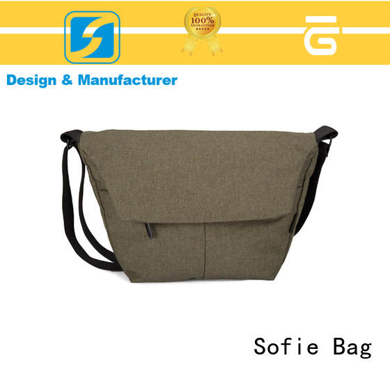 Sofie trapezoidal shape cross body shoulder bag factory price for school
