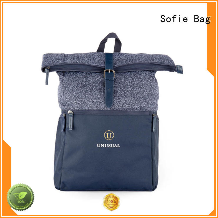 Sofie unique style reflective backpack manufacturer for school