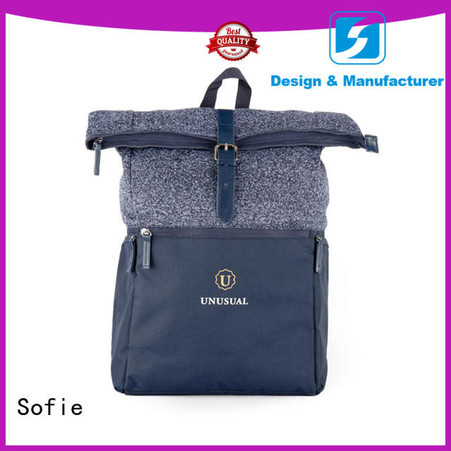 Sofie two zipper side casual backpack manufacturer for college