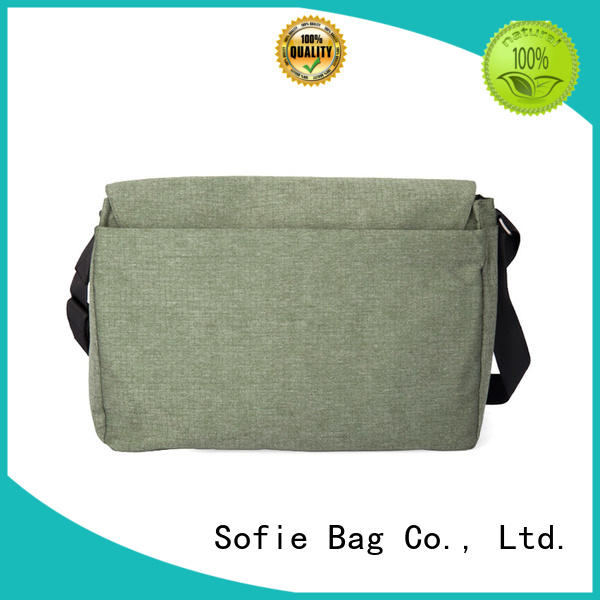 Sofie lattice jacquard fabric laptop messenger bags factory direct supply for travel