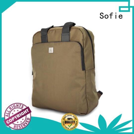 Fashion soft twill nylon business laptop backpack S18029