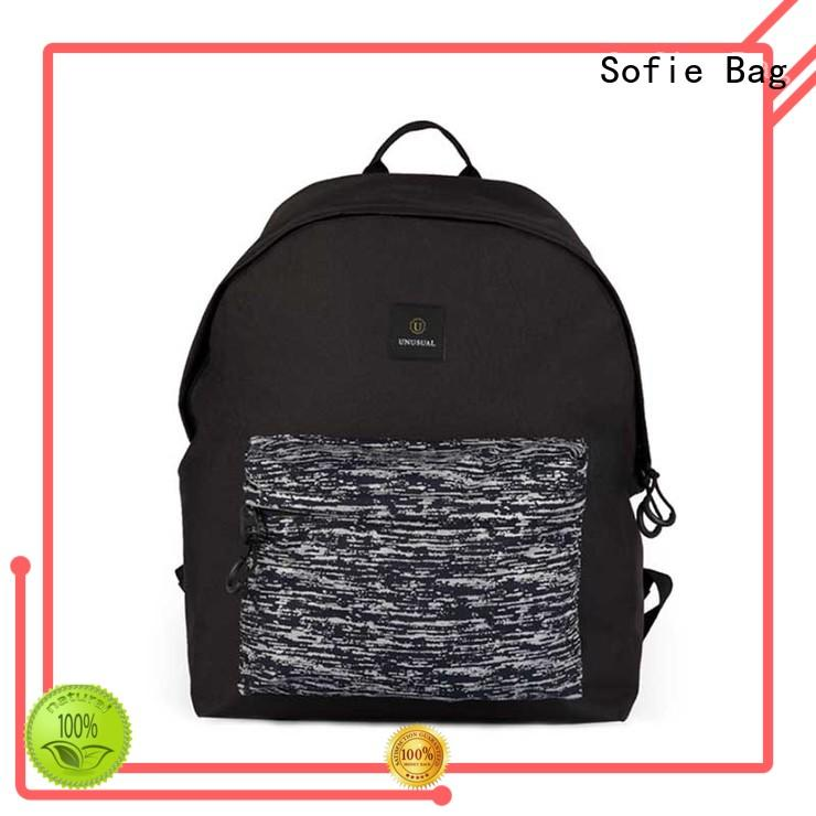 Sofie melange canvas backpack supplier for school