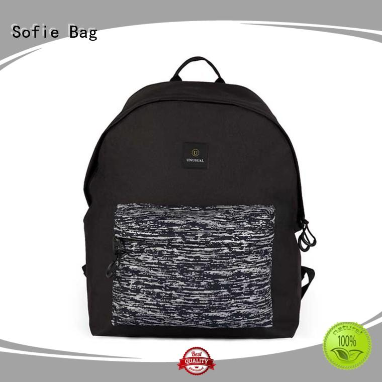 Sofie two zipper side reflective backpack manufacturer for business