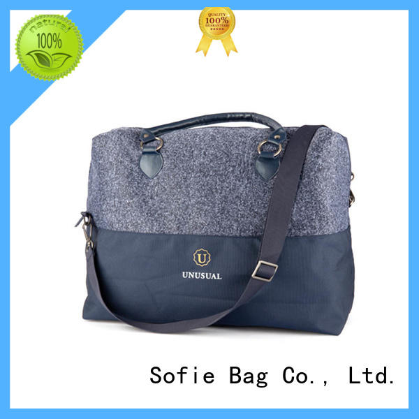 Pu leather handle business travel bag factory direct supply for packaging