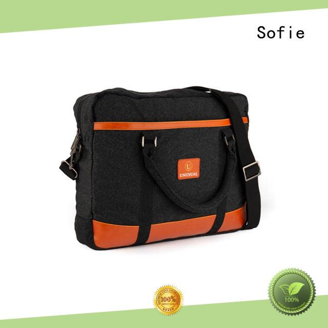 Sofie nylon shoulder straps laptop bag manufacturer for men