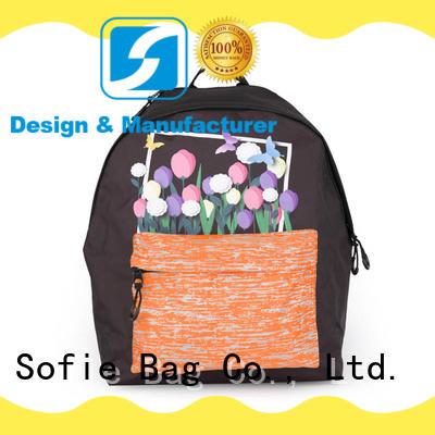 Sofie hard EVA bottom students backpack supplier for students