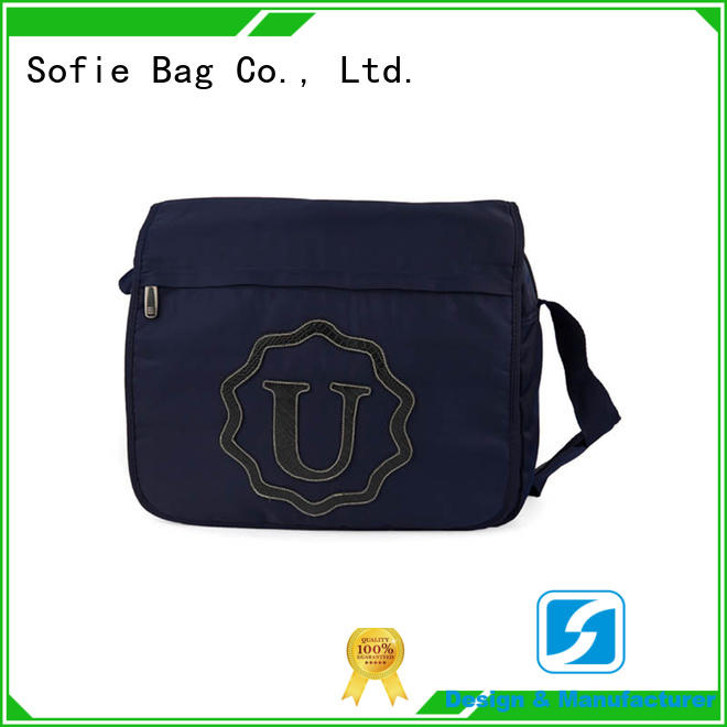 Sofie PU leather logo business messenger bag wholesale for office