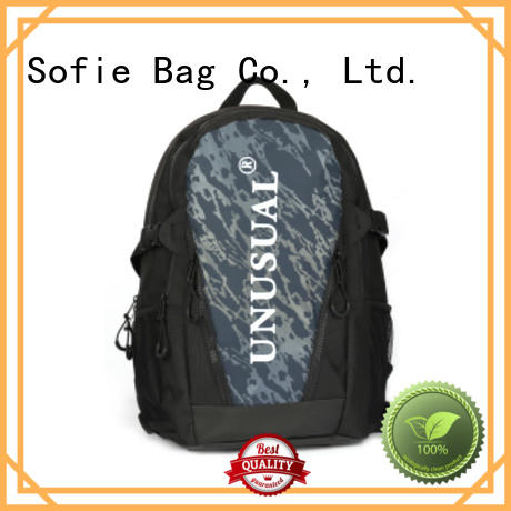 Sofie wrinkle printing canvas backpack wholesale for business