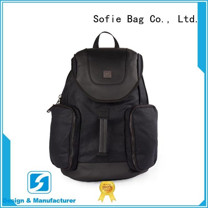 Sofie melange black backpack for travel