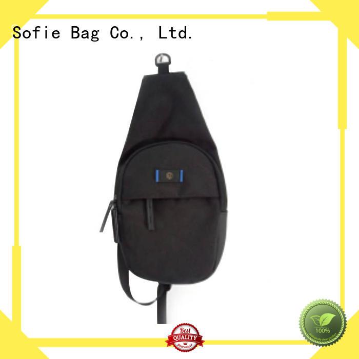 jacquard fabric crossbody sling bag customized for men