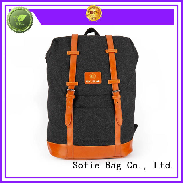 Sofie PU leather handle stylish backpack manufacturer for travel