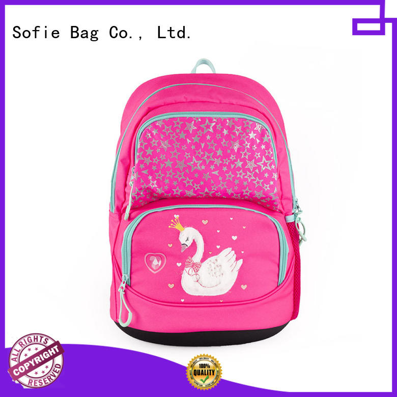 Sofie polyester school backpack supplier for students