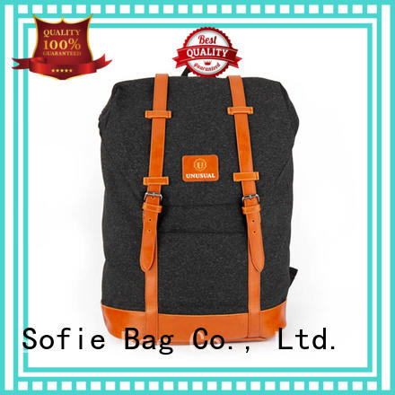 Sofie melange sport backpack personalized for school