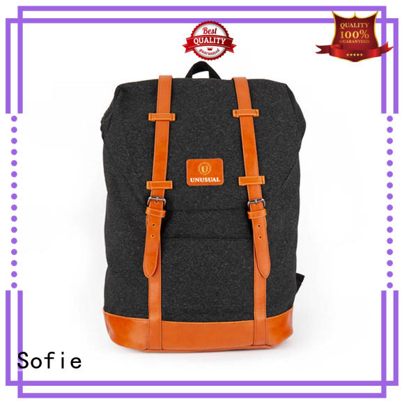 melange canvas backpack personalized for school