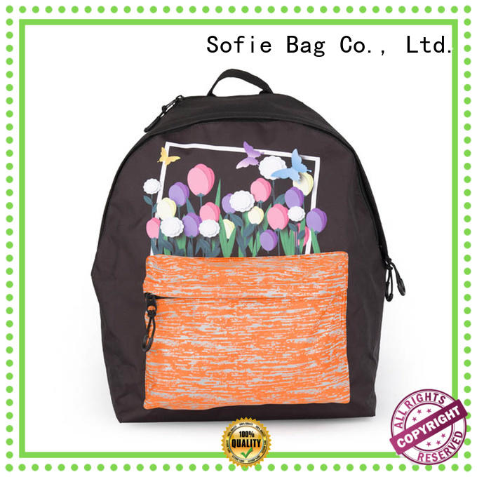 Sofie fashion school backpack customized for packaging