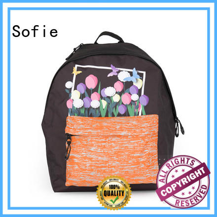 Sofie with TPU reflective hat school bags for girls series for children