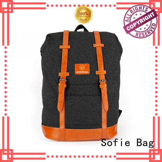 Stylish light melange casual backpack  20181007