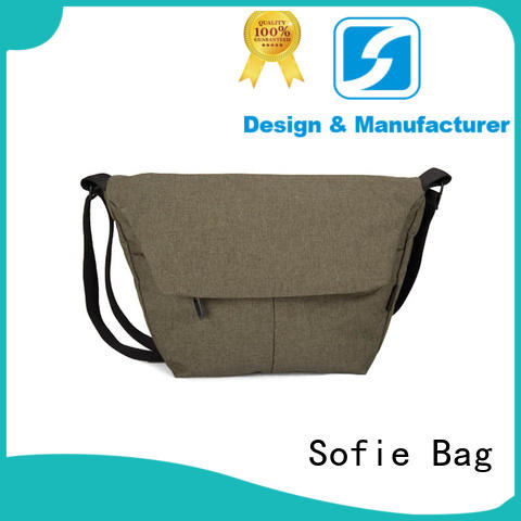 invisible front pockets shoulder bag factory price for packaging