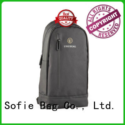Sofie jacquard fabric chest bag manufacturer for men