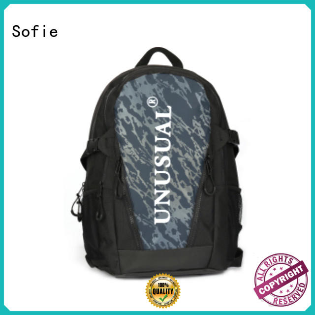 Sofie two zipper side unisex backpack for business