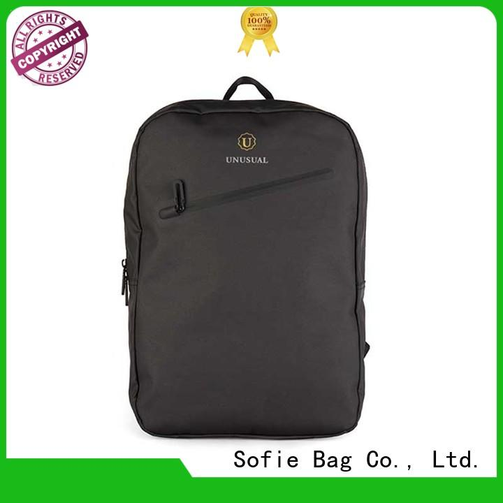 Sofie thick pipped handle shoulder laptop bag factory direct supply for men