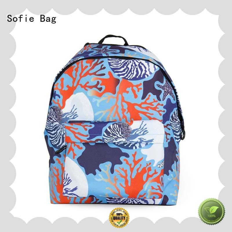 Sofie light weight students backpack series for packaging