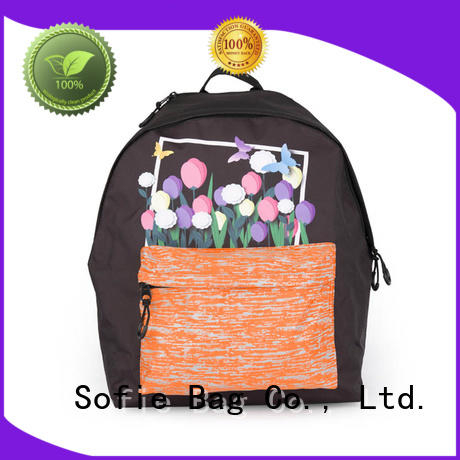 Sofie with TPU reflective hat children school bag manufacturer for kids