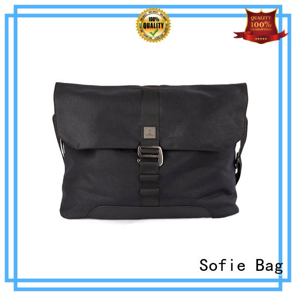 Sofie nylon shoulder straps laptop messenger bags factory direct supply for office