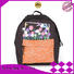 New girls reflective school backpack with reflective hat 201901001