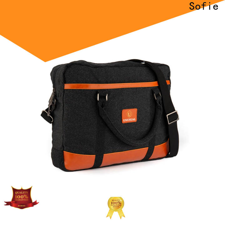 Sofie back pocket shoulder laptop bag series for men