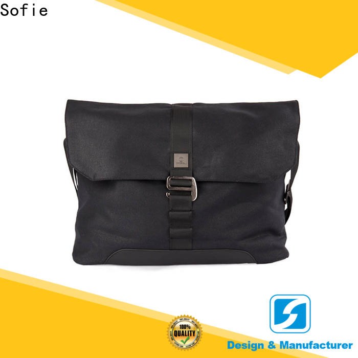 Sofie nylon shoulder straps classic messenger bag factory direct supply for men