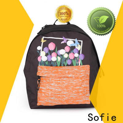 two pockets school bags for girls supplier for students