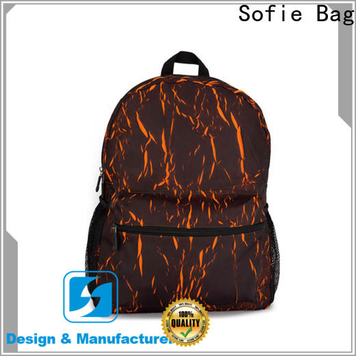 wrinkle printing casual backpack supplier for school