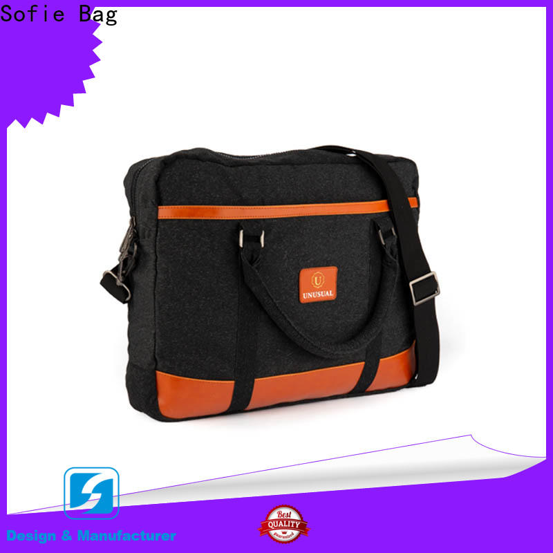 Sofie thick pipped handle laptop backpack factory direct supply for office