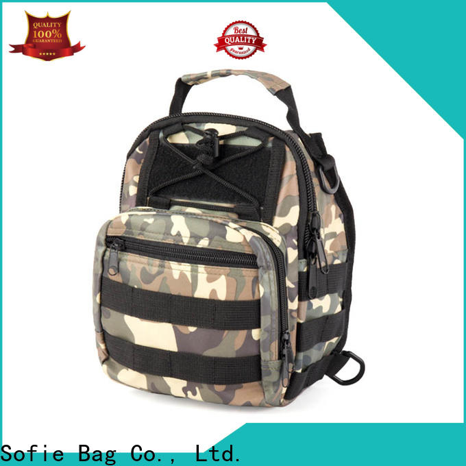 camouflage chest bag factory direct supply for going out