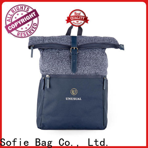 Sofie PU leather handle mini backpack customized for business